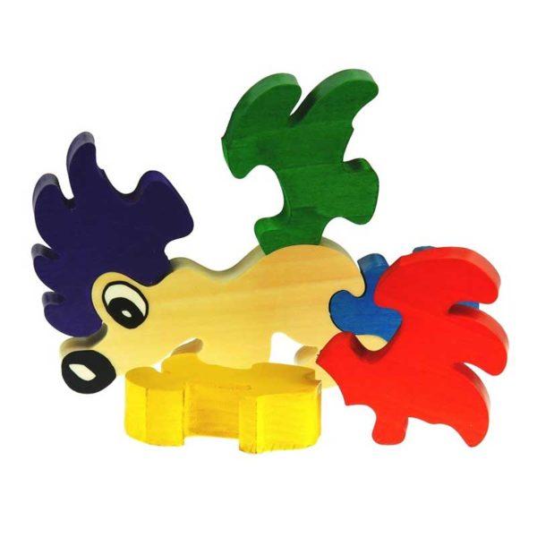 Puzzle hérisson en bois