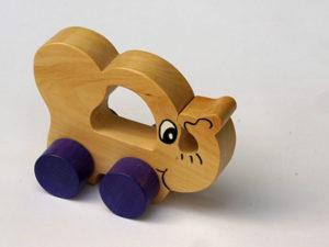Jouet à roulettes éléphant