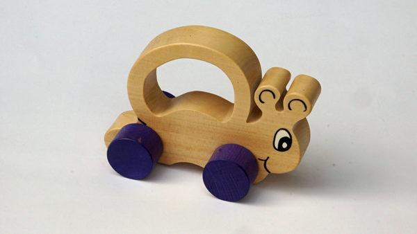 Jouet à roulettes escargot