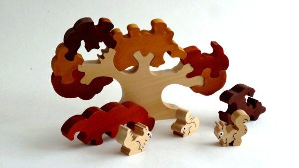 Puzzle arbre et écureuil