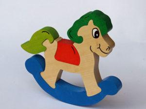 Puzzle cheval à bascule