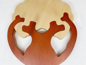 Décoration- dessous-de-plat en bois massif