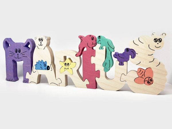 Puzzle prénom en bois
